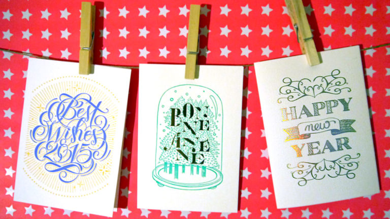Letterpress de Paris cards