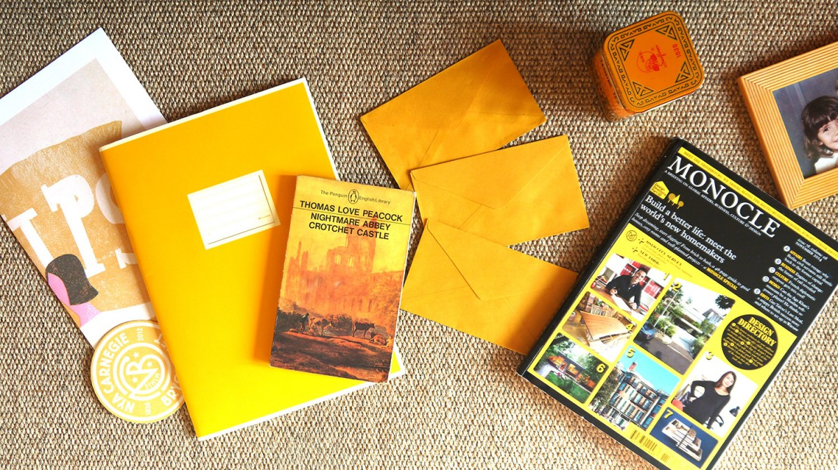 Mustard inspiration: Semikolon notebook, Monocle magazine