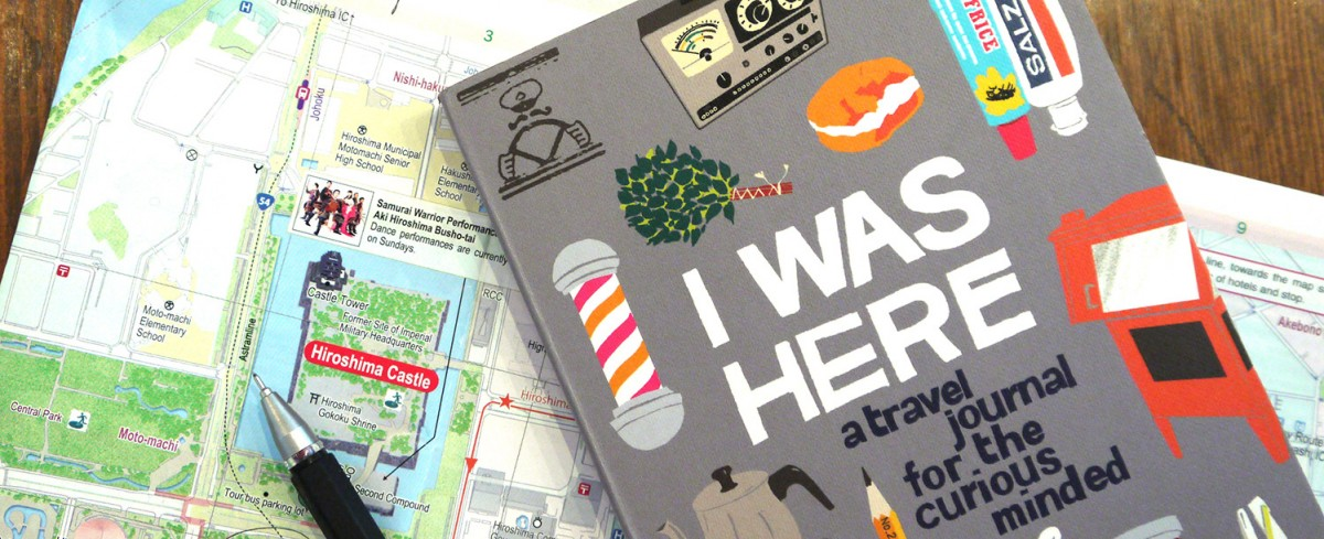 I Was Here travel journak, cover detail