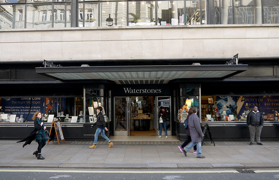 Waterstones, iconic bookshop in London
