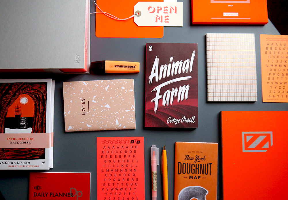 A selection of Orange Stationery 2
