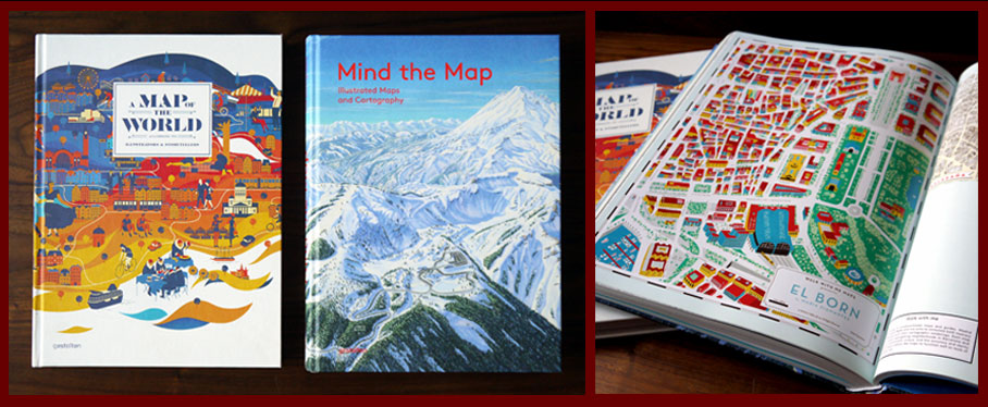 Books by Gestaltenpublishing house for map lovers