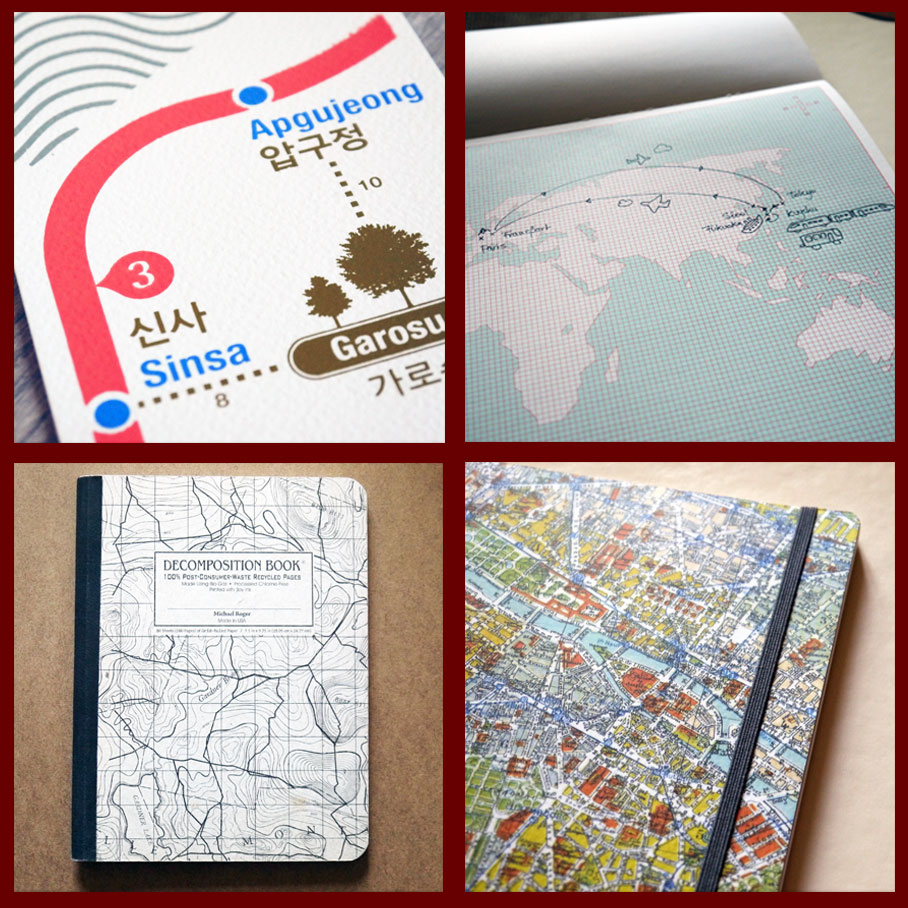Stationery for map lovers