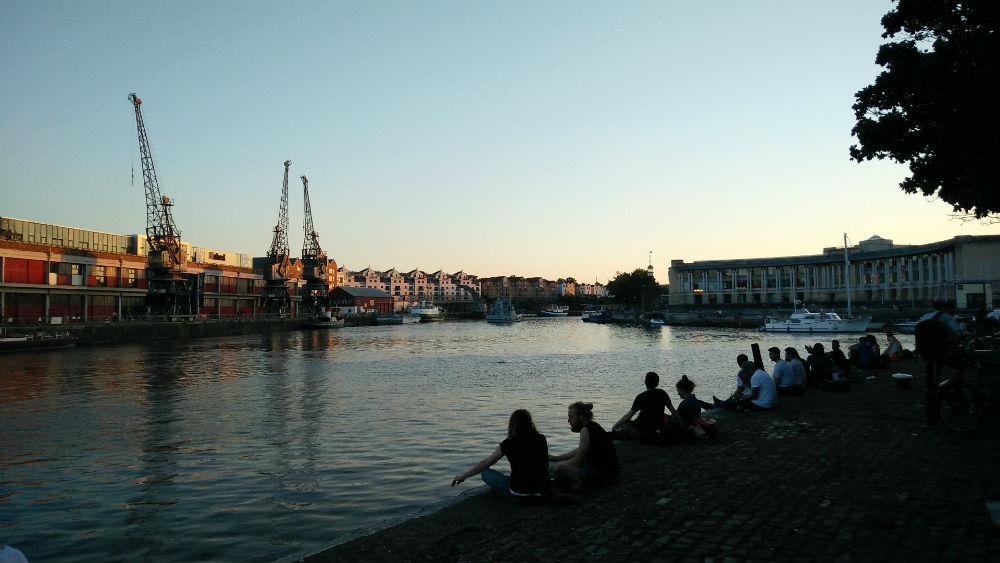 Bristol youth on wharf